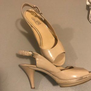 Size 7,  9 & Co Sling back open toed heals